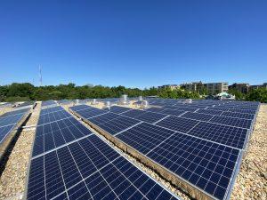 commercial rooftop solar installation